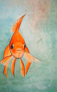 just keep swimming nemo buster goldfish orange gold