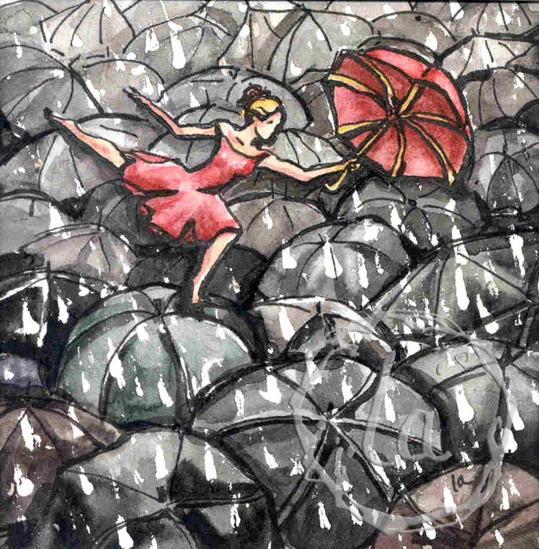 ballet of umbrellas