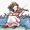 fiddlin around girl with violin fiddle