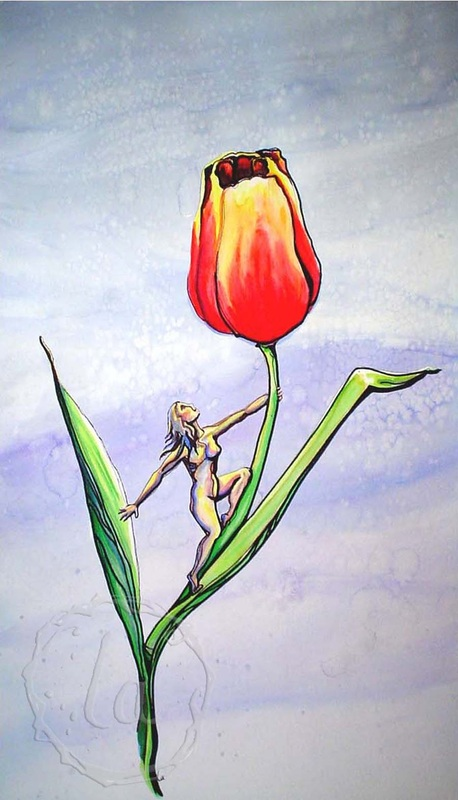 tiptoe in the tulip flower