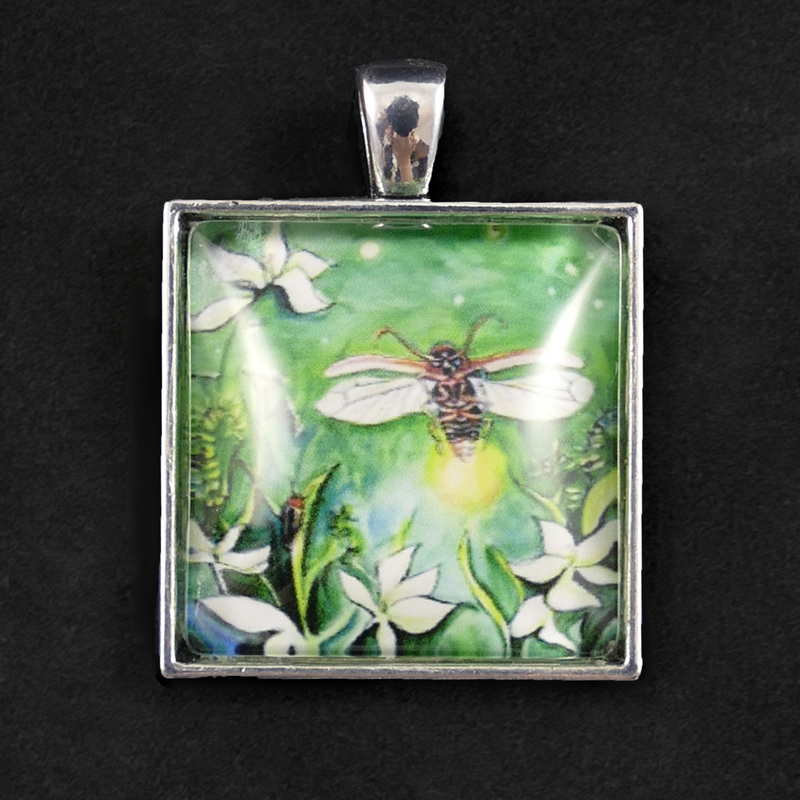 Firefly lightening bug pendant