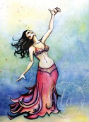 Belly dance dancer logo painting