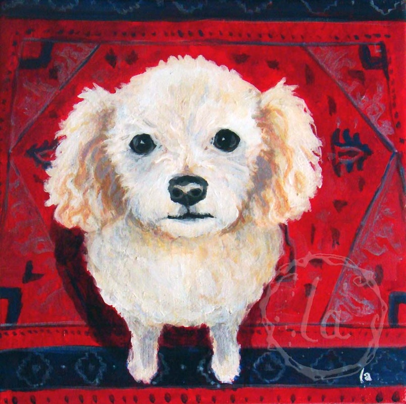 Fred the dog in oil
