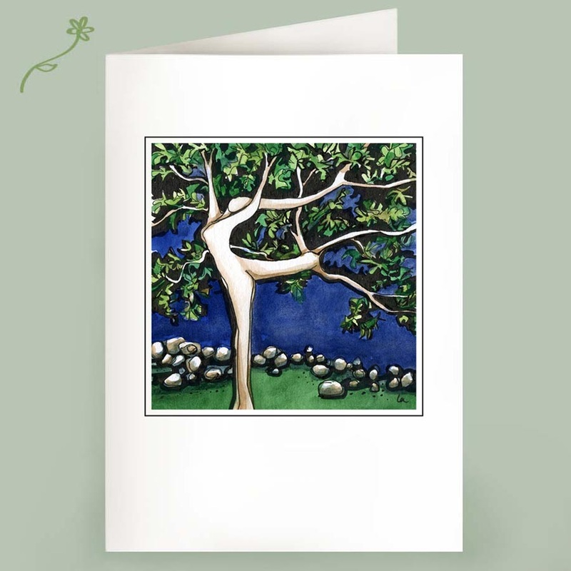 dancing tree note cards