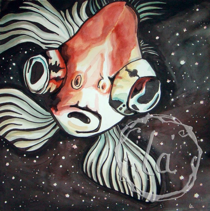 spaced out fish