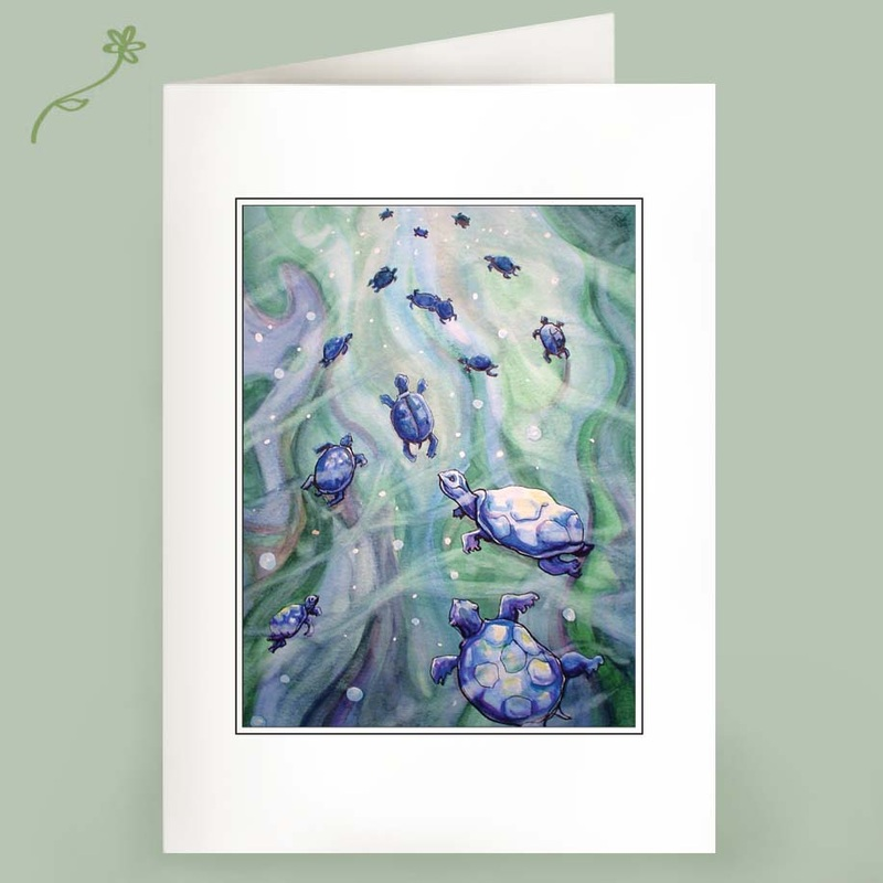 dream of blue turtles note cards