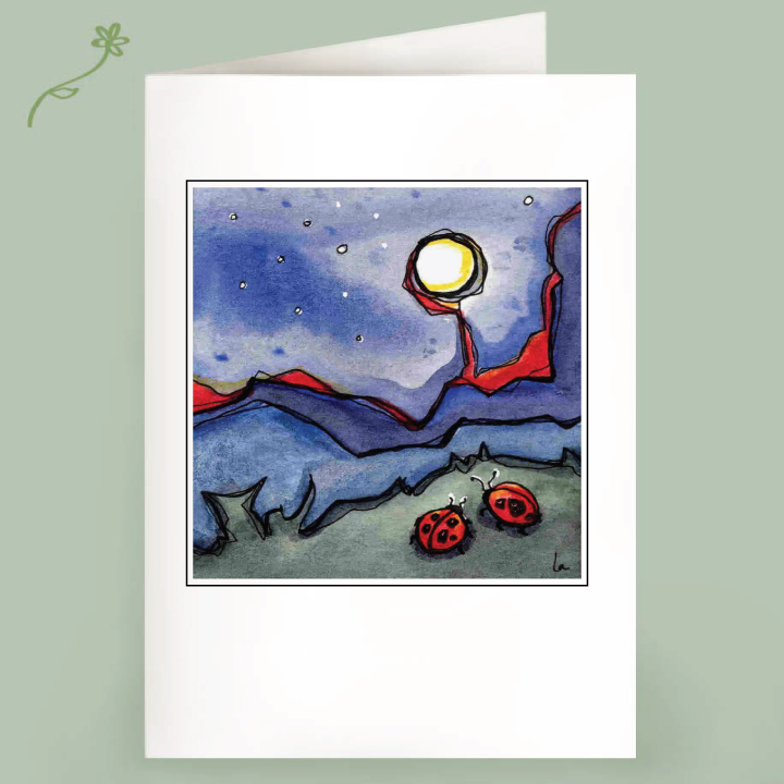moon bugs note cards