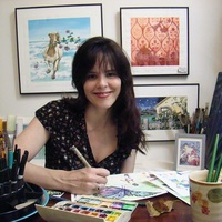 leslie allyn in her studio
