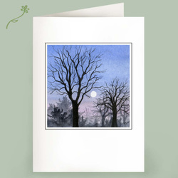 trees touching the moon winter cards