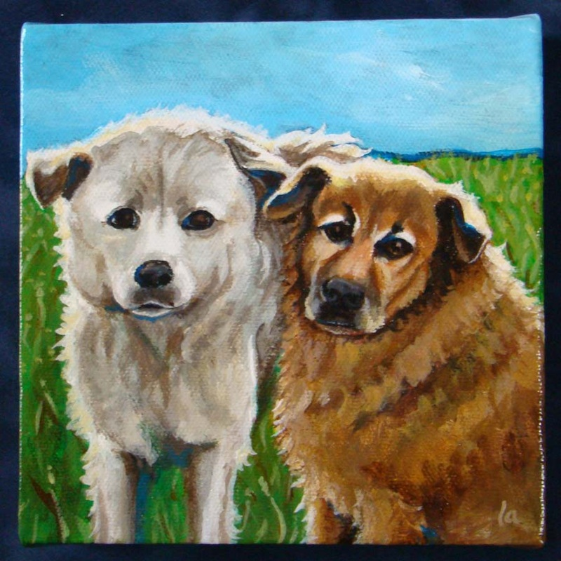 The Pups - acrylic