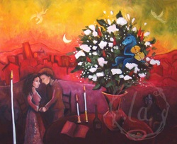 Soiree - oil painting for anniversary