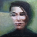 portrait blurry face oil painting