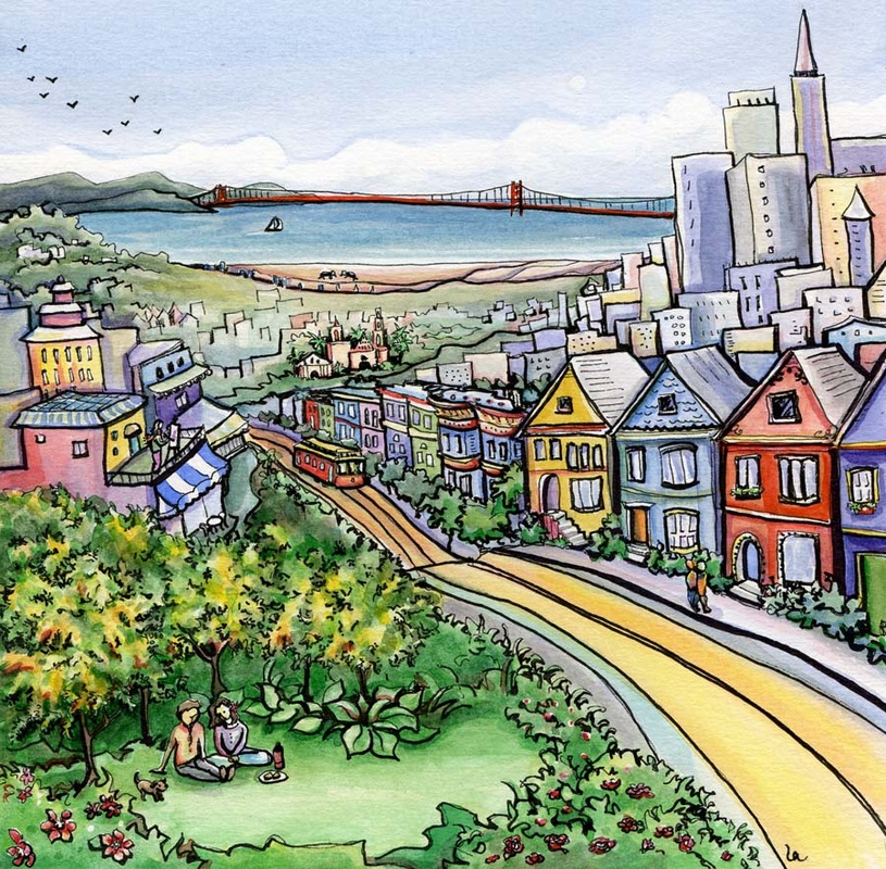 San Francisco Treat cityscape bay