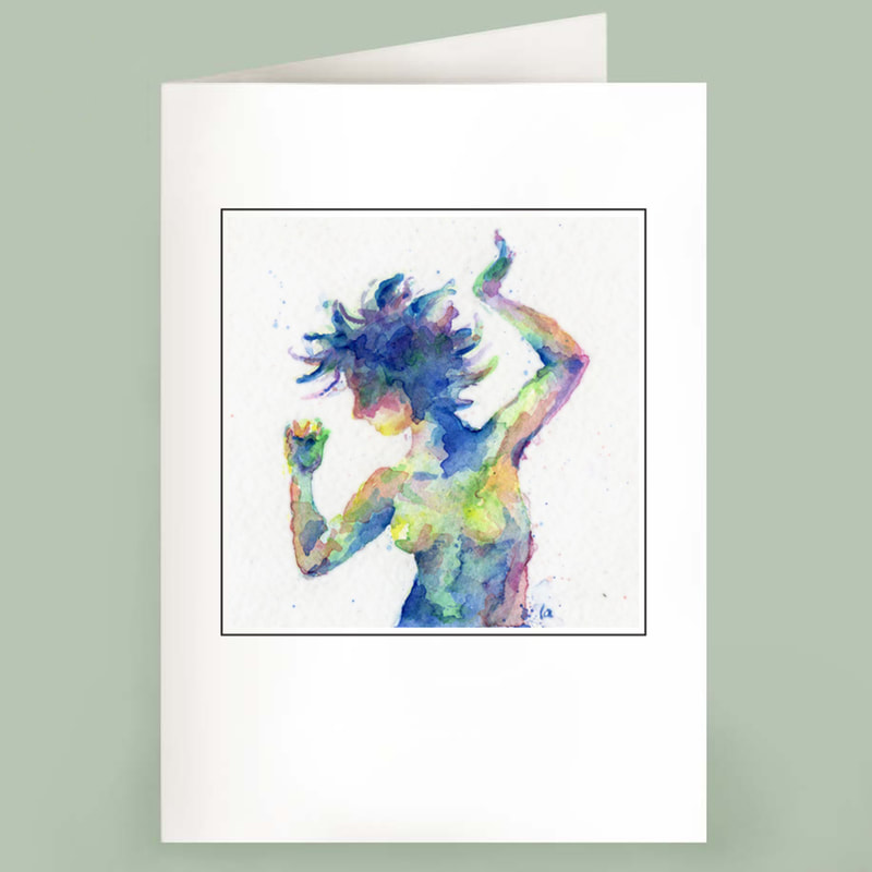 The Dancer note card watercolor