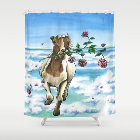 Leslie Allyn on Society6 shower curtains