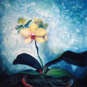 good omen orchid oil painting