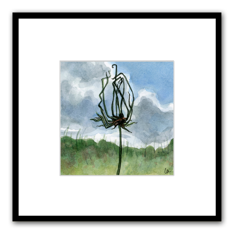 Wild Onion original watercolor
